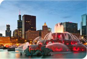 Fountain in Grant Park Chicago
