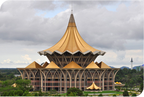 parliament building in Kuching