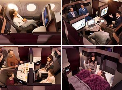 Qatar Airways Business Class A restful journey
